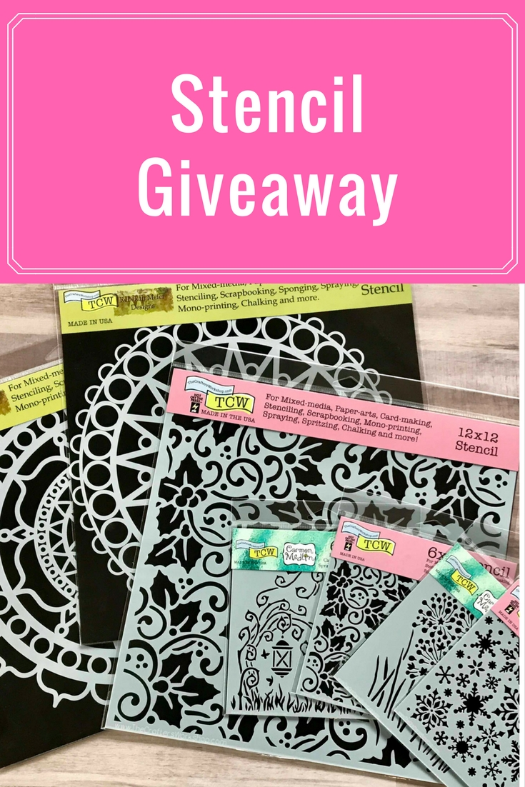 Stencil Giveaway | WIN WIN WIN | Featuring The Crafter's Workshop | Why Not Win Wednesday | Creative Scrapbooker Magazine #stencils #giveaway