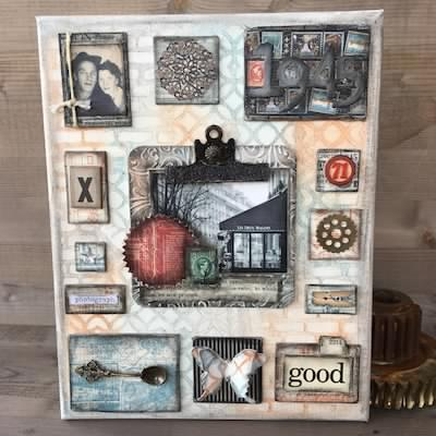 Canvas Art | Mixed Media | Home Decor | Featuring Ranger | Designed by Nicole Wright | Creative Scrapbooker Magazine