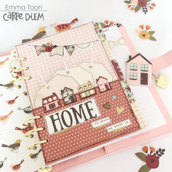 Planners | Featuring Simple Stories Vintage Blessings Collection | Designed by Emma Toon | Creative Scrapbooker Magazine