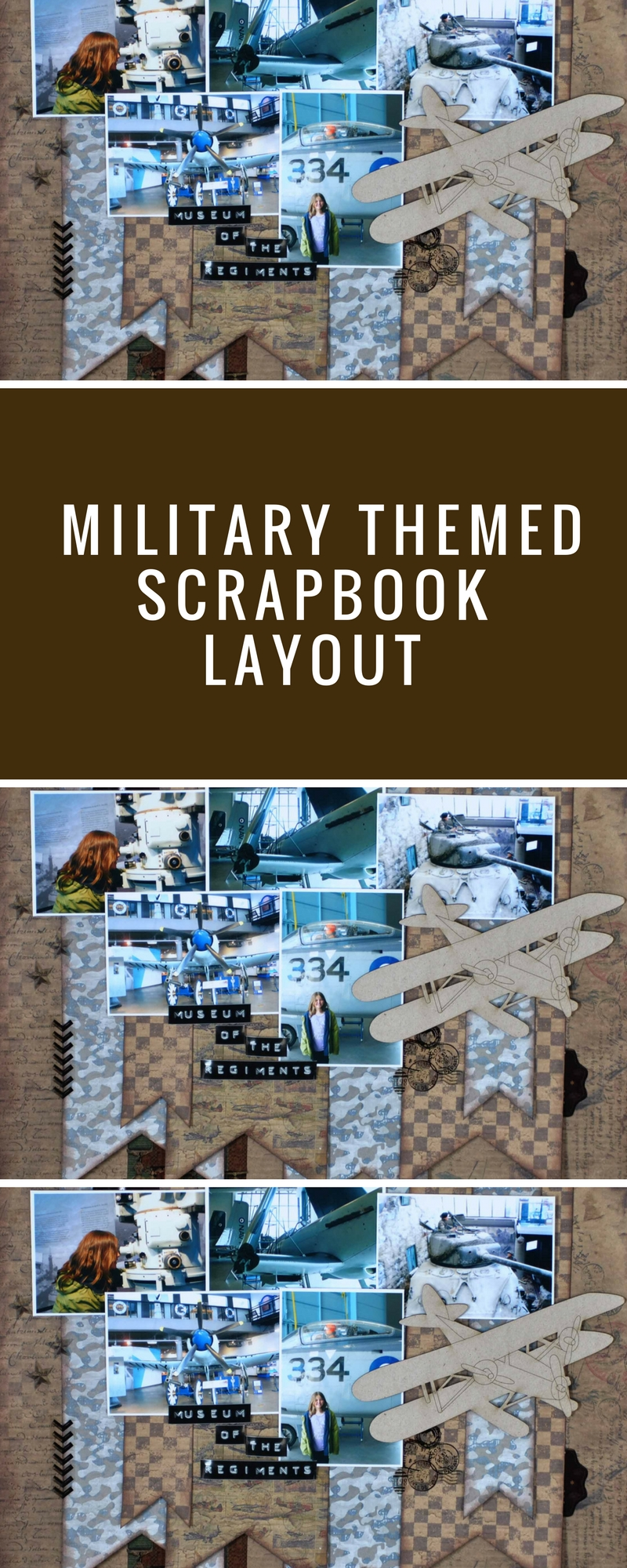 Military Themed Scrapbook Layout | 12X12 Layout | FabScraps | Christy Riopel | Creative Scrapbooker Magazine