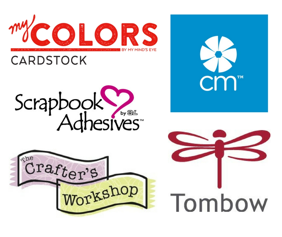Scrapbooking manufacturer logos sponsoring the Great Canadian Scrapbook Carnival.