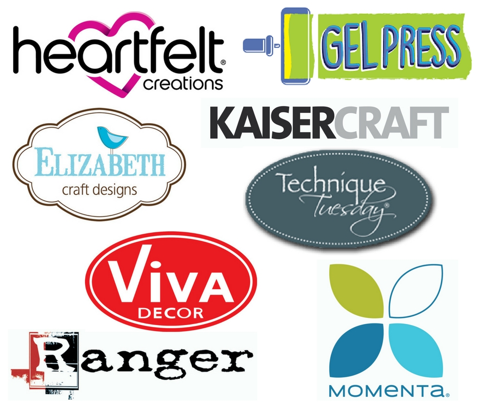 Assortment of scrapbooking manufacturer logos who are sponsoring The Great Canadian Scrapbook Carnivals