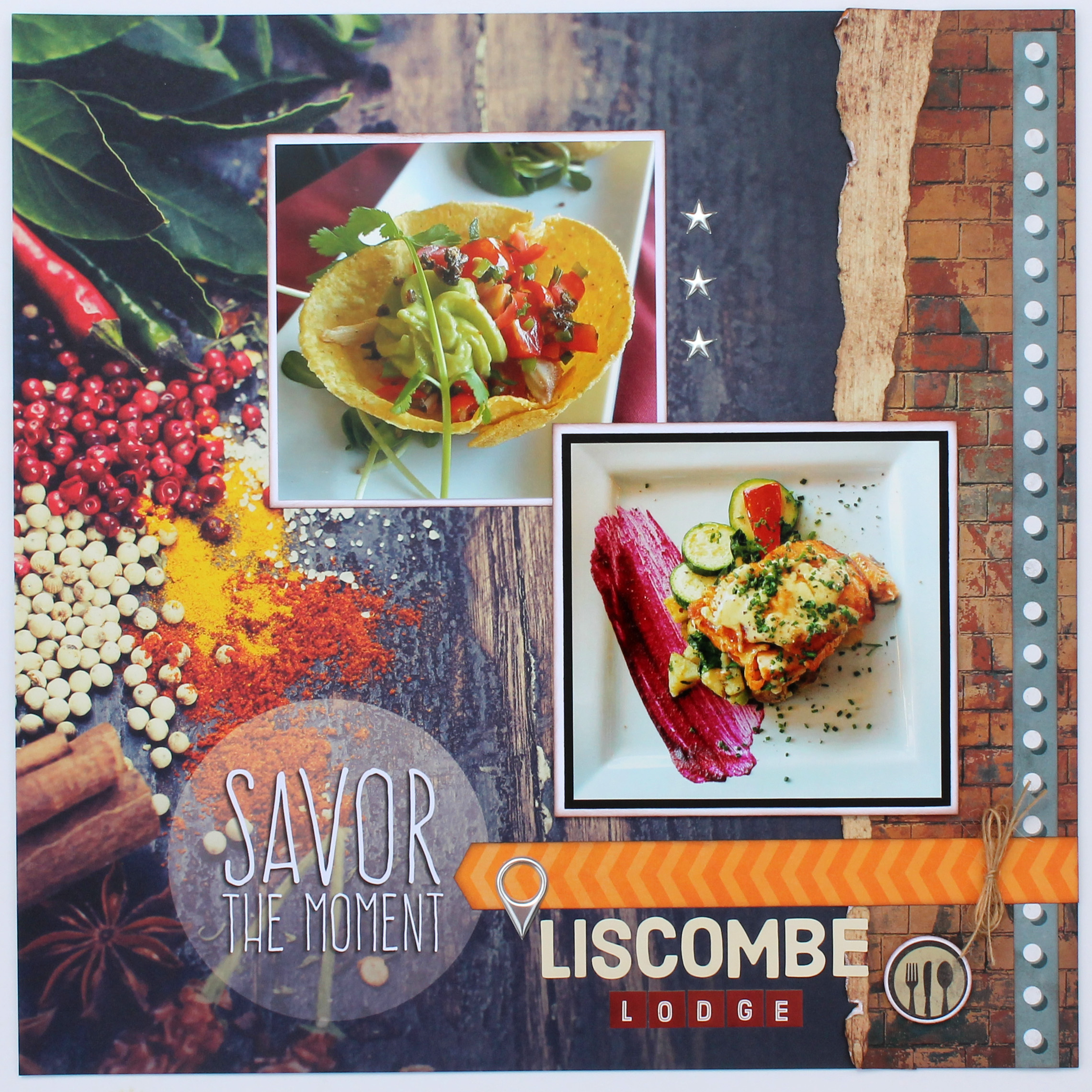 Scrapbook Layout | Designed by Tracy McLennon | Featuring Paper House Productions Delish Collection | Creative Scrapbooker Magazine
