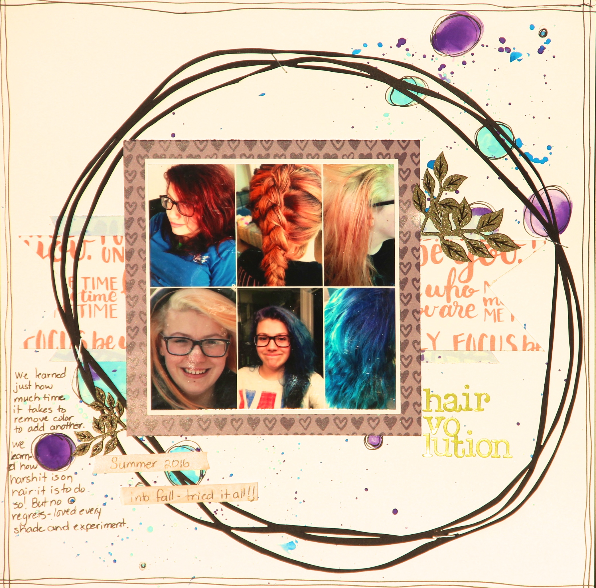 Scrapbook Layout | Featuring Wild Whisper Designs Focus on You Collection | 12X12 Layout | Creative Scrapbooker Magazine