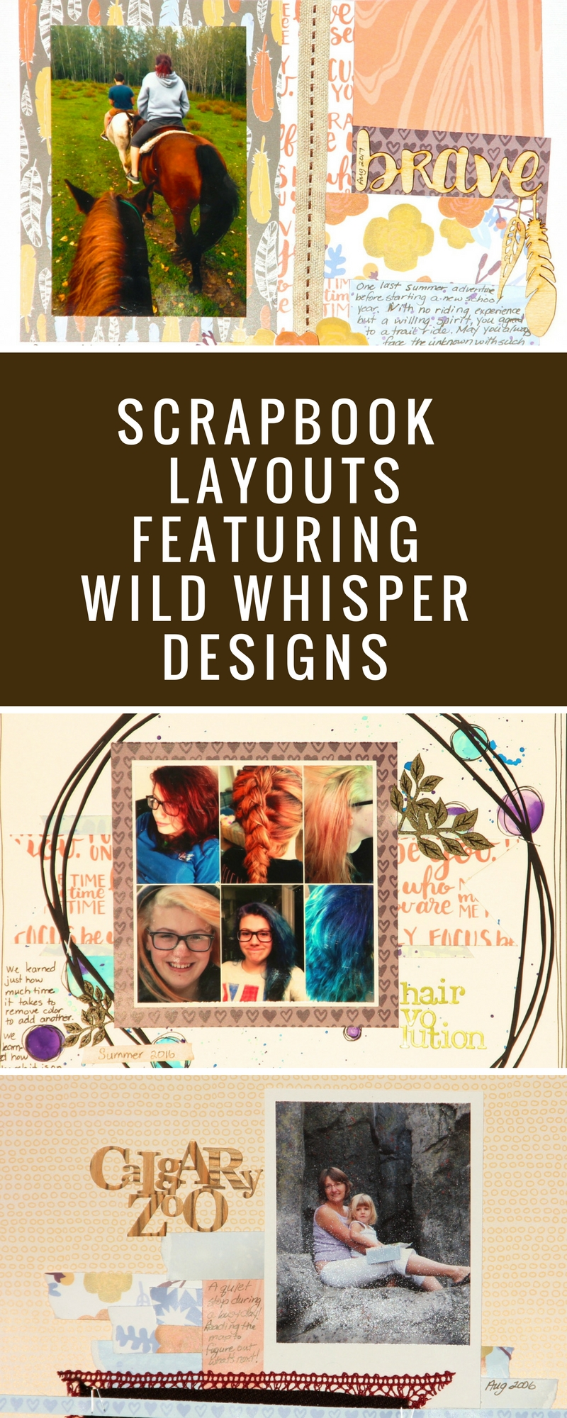 Scrapbooking Layouts | Scrapbook Pages | 12X12 Layout | Featuring Wild Whisper Designs | Creative Scrapbooker Magazine