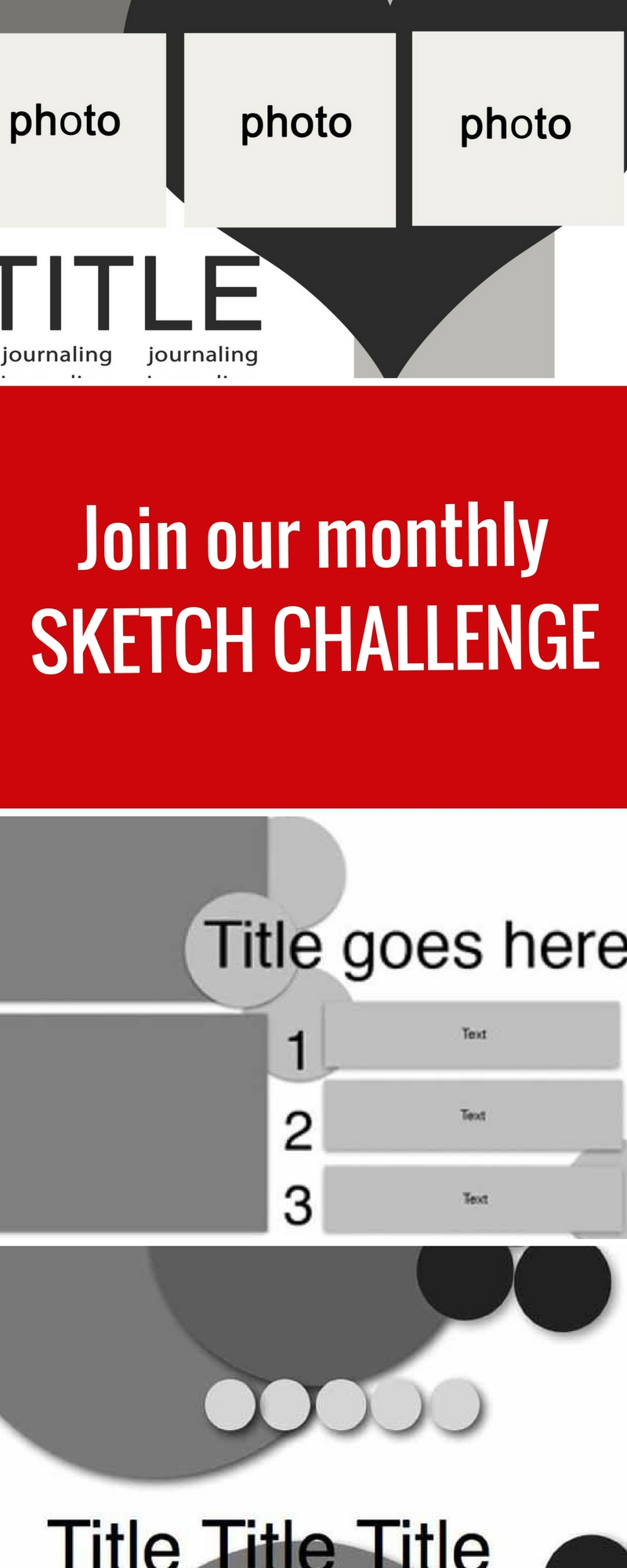 Scrapbook Sketches | Join our monthly sketch challenge | Creative Scrapbooker Magazine