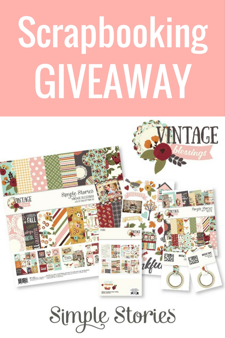 WIN WIN WIN | Scrapbooking Giveaway | WIN the Vintage Blessings Collection from Simple Stories | Creative Scrapbooker Magazine