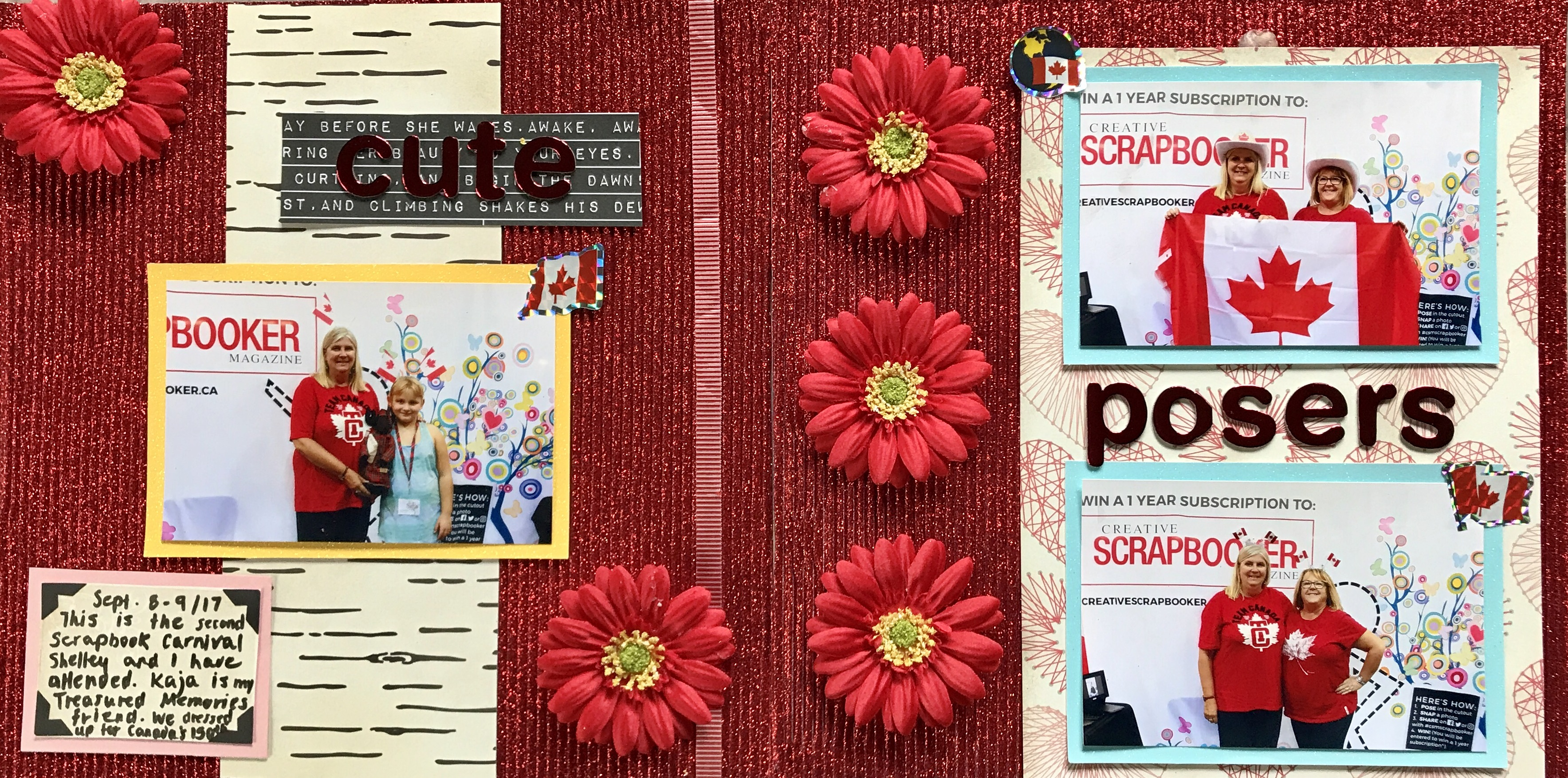 Scrapbooking | Double Page Layout | Designed by Bev Sullivan | Creative Scrapbooker Magazine