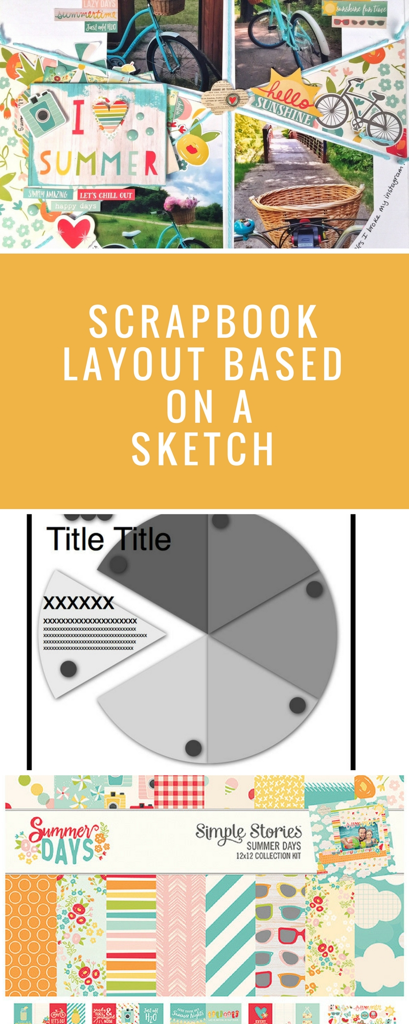 Scrapbooking Sketches | 12X12 Sketches | Join Our Monthly Sketch Challenge | Creative Scrapbooker Magazine