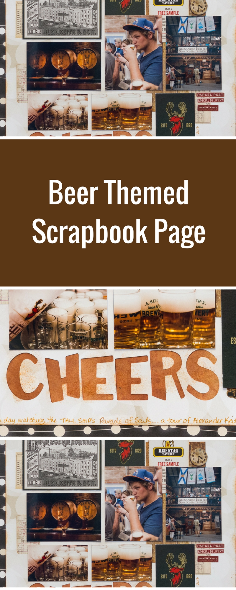 Scrapbooking Ideas | Beer Themed Layouts | Featuring BoBunny and Stabilo | Designed by Kim Gowdy | Creative Scrapbooker Magazine