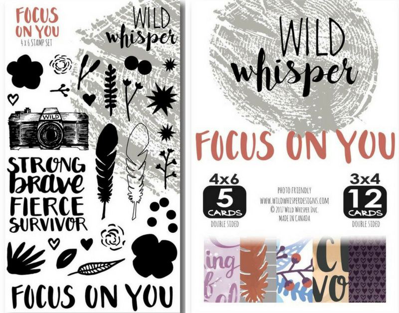 Wild Whisper Designs Focus On You Stamp Set and Card Pack
