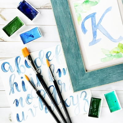 Watercolour Lettering