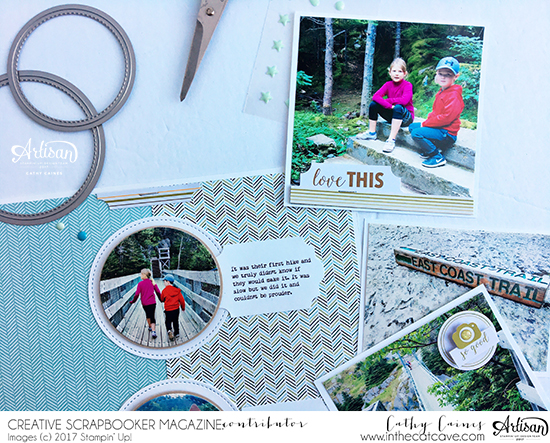 Scrapbooking with Page Pockets | Featuring Stampin' Up! | Designed by Cathy Caines | Creative Scrapbooker Magazine