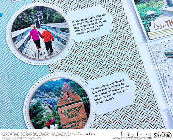 Scrapbooking with Page Pockets | Clean and Simple | Page Pockets | Featuring Stampin' Up! | Designed by Cathy Caines | Creative Scrapbooker Magazine