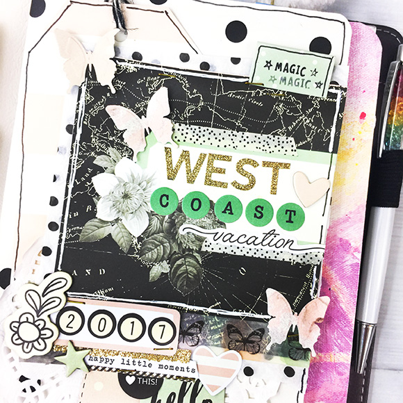 Vintage Floral Travelers Notebooks by Simple Stories | Designed by Leah O'Neil | Journaling Ideas | Creative Scrapbooker Magaine #simplestories #planners
