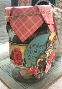 Carta Bella Country Kitchen Collection used to alter a jar.