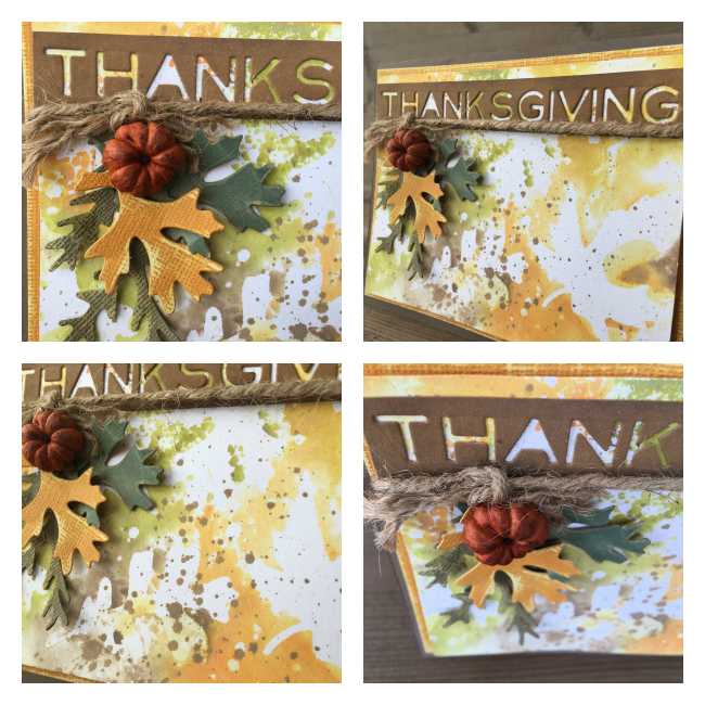 Thanksgiving Scrapbook Card | Photo Step by Steps | Featuring Ranger Oxide inks | Designed by Nicole Wright | Creative Scrapbooker Magazine #thanksgiving #cardmaking #oxideinks #scrapbooking