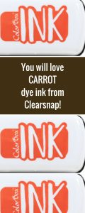 Clearsnap Colorbox Carrot Dye Mini Ink Pad | Creative Scrapbooker Magazine  #clearsnap #dyeink #stamping