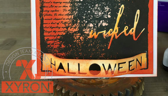 Halloween card featuring Clearsnap Carrot Dye Ink Mini Pad | Card Designed by Nicole Wright | Creative Scrapbooker Magazine #clearsnap #stamping #cardmaking #Halloween