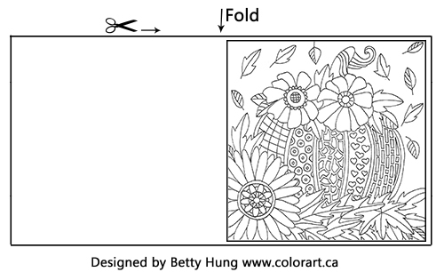 Free Color Card | Designed by Betty Hung | Creative Scrapbooker Magazine #coloring #free #card