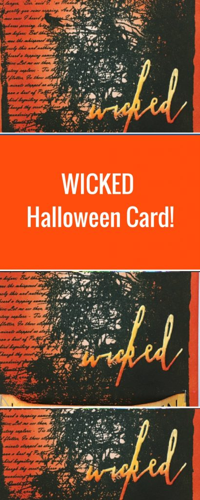 Halloween Card Featuring Clearsnap ColorBox Dye Ink  | Designed by Nicole Wright | Creative Scrapbooker Magazine  #clearsnap #halloween #cardmaking