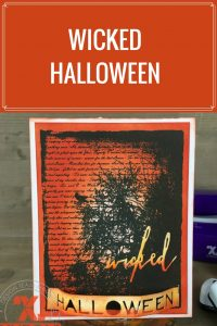 Halloween Card Featuring Clearsnap ColorBox Dye Ink    Designed by Nicole Wright   Creative Scrapbooker Magazine  #clearsnap #halloween #cardmaking