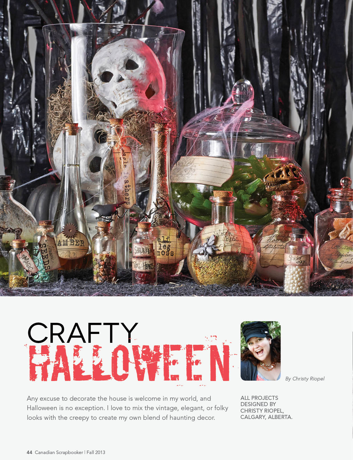 Crafty Halloween Decorations | Halloween DIY Decorations | Designed by Christy Riopel | Creative Scrapbooker Magazine #scrapbooking #halloween #crafts