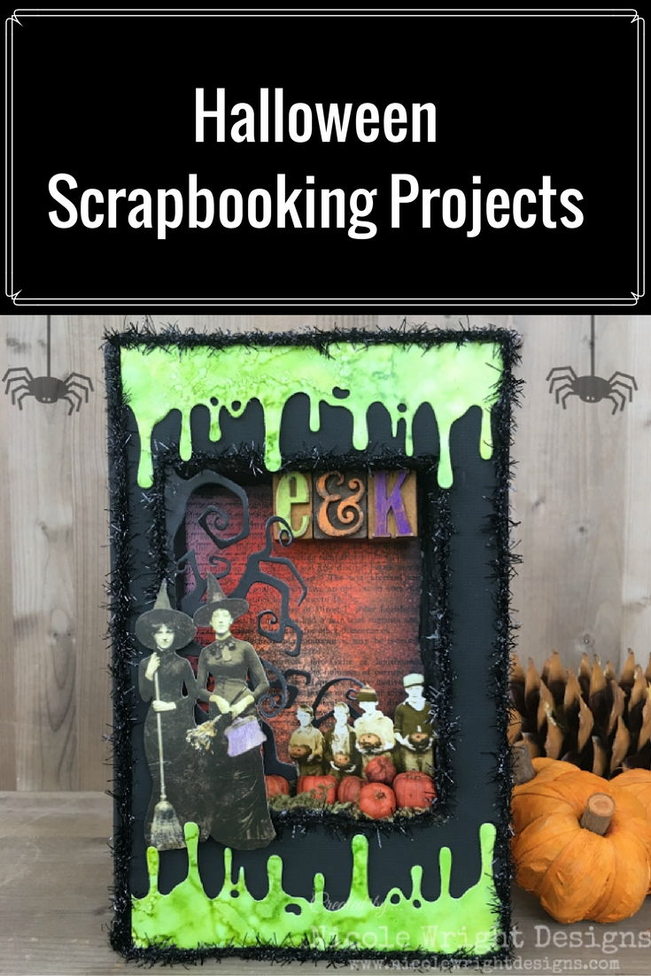 Halloween Scrapbook Projects | Featuring Tim Holtz Paper Dolls | Creative Scrapbooker Magazine #halloween #scrapbooking