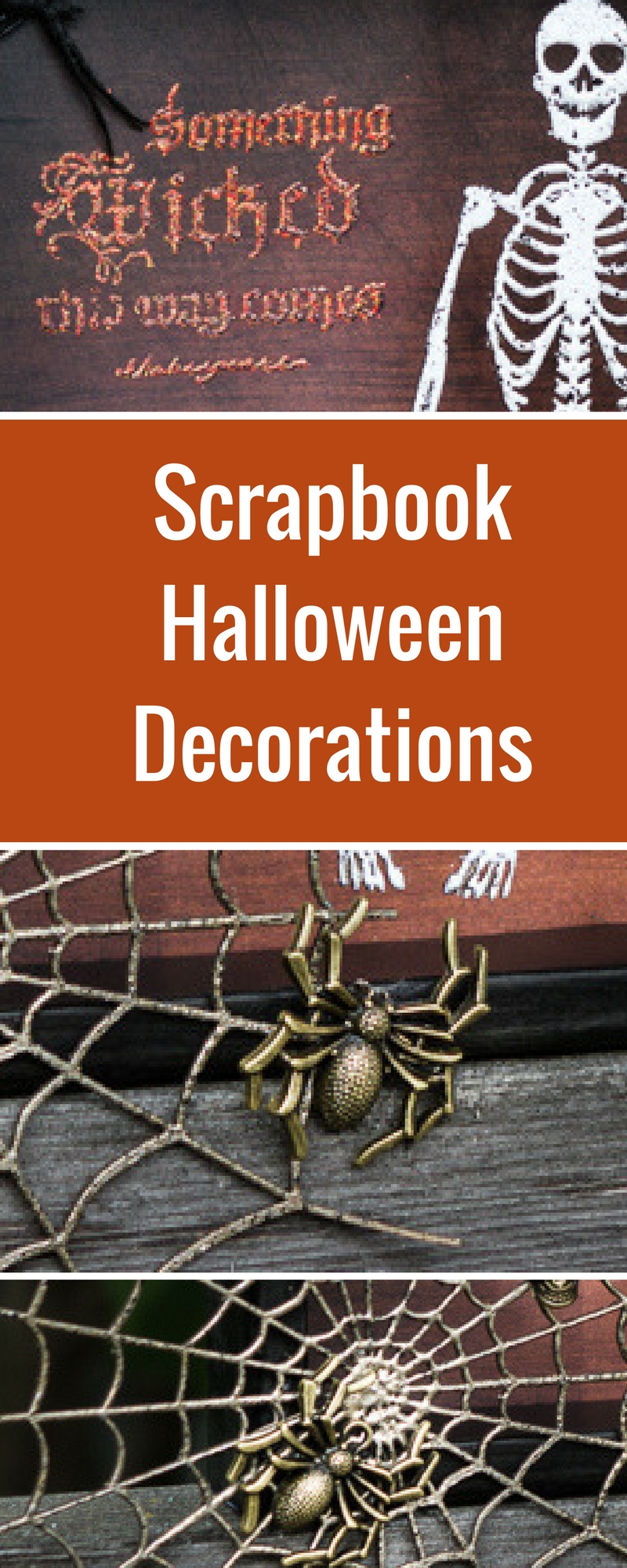 Halloween Home Decor | Scrapbooking Halloween | Featuring Emerald Creek Craft Supplies and Southern Ridge Trading Co. | Designed by Kim Gowdy | Creative Scrapbooker Magazine #Halloween #scrapbooking #homedecor