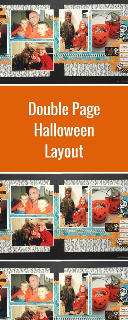 Double Page Halloween Layout | Featuring Creative Memories Toil & Trouble Collection | Designed by Noreen Smith | Creative Scrapbooker Magazine #halloween #doublepages #scrapbooking