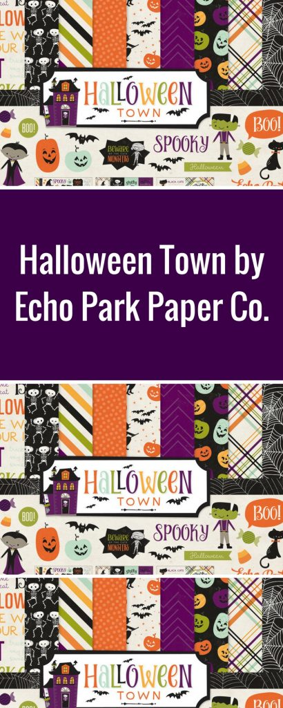Halloween Layout Featuring Echo Park Paper Co. Halloween Town Collection | Designed by Connie Nichol | Creative Scrapbooker Magazine  #halloween #scrapbooking #Echo Park