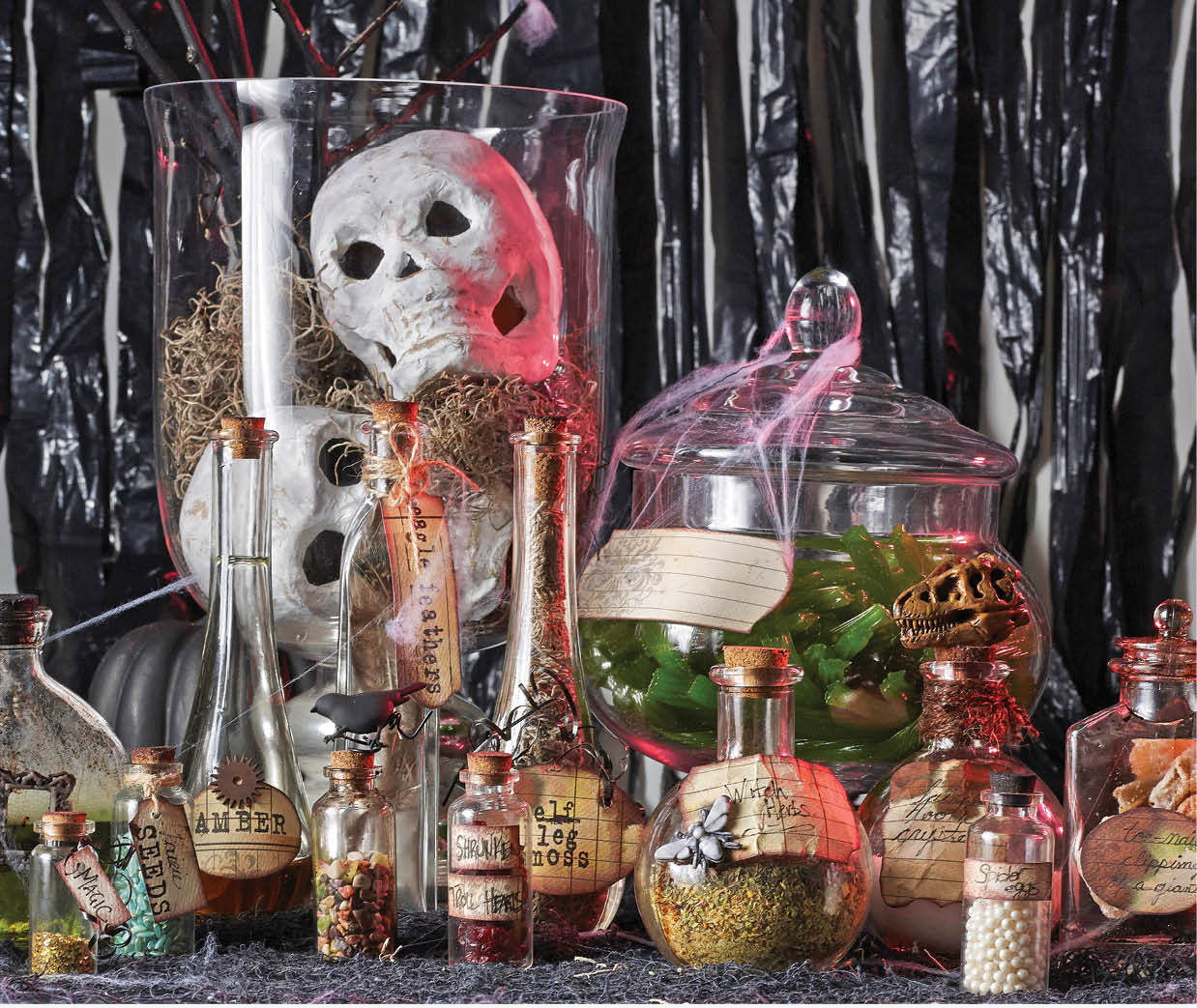 Crafty halloween home decor designed by christy riopel for Halloween home decorations