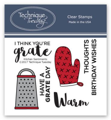 Kitchen Sentiments Stamp Set Designed by Technique Tuesday