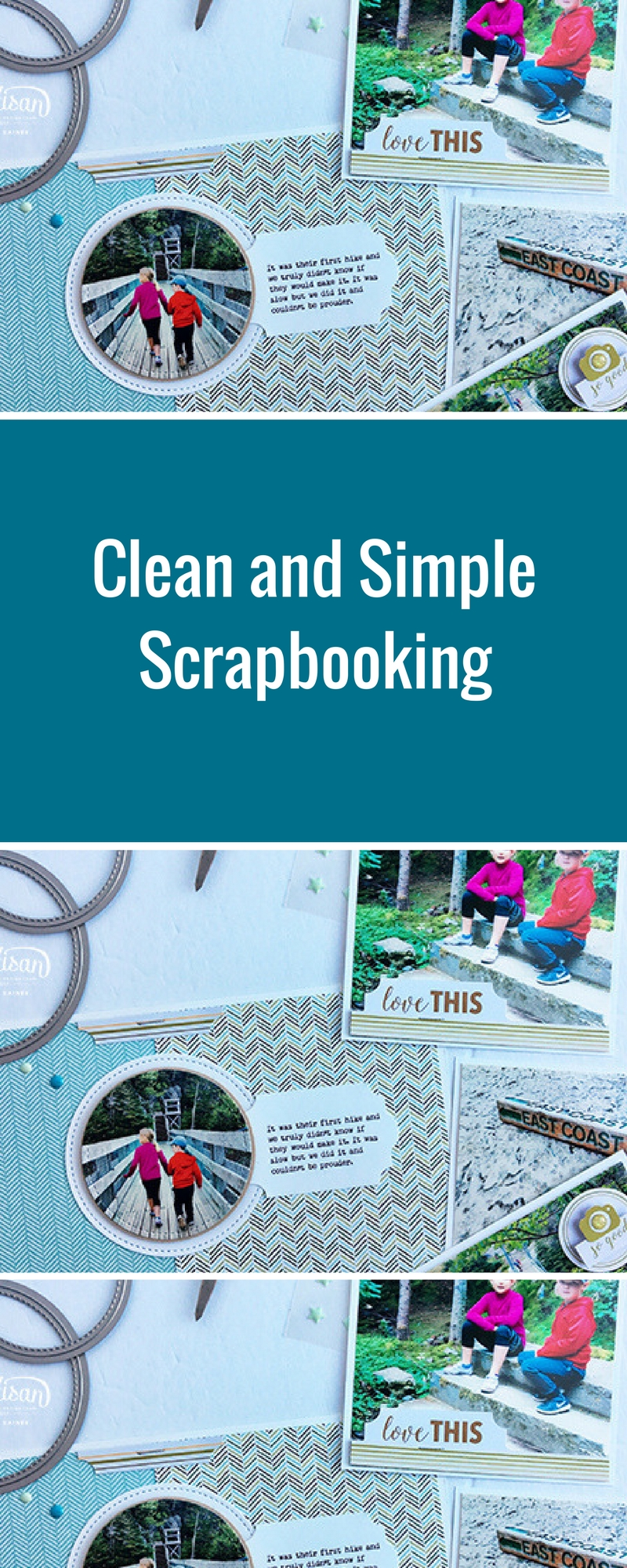 Scrapbooking Clean and Simple | Featuring Stampin' Up! | Page Pockets | Designed by Cathy Caines | Creative Scrapbooker Magazine #scrapbooking #pagepockets