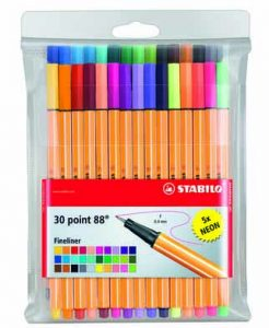 Stabilo Pen 88 Fineliner Set of 30 pens
