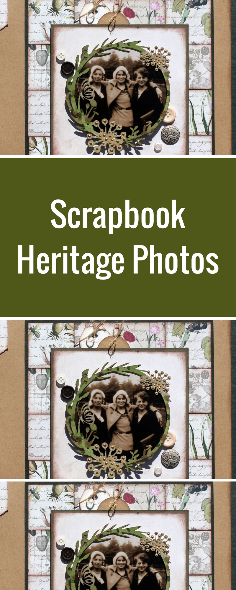 Heritage Scrapbook Layout | Featurring FabScraps Mother Earth Collection | Designed by Tracy McLennon | Creative Scrapbooker Magazine #heritage #scrapbooking #12X12layout #fabscraps