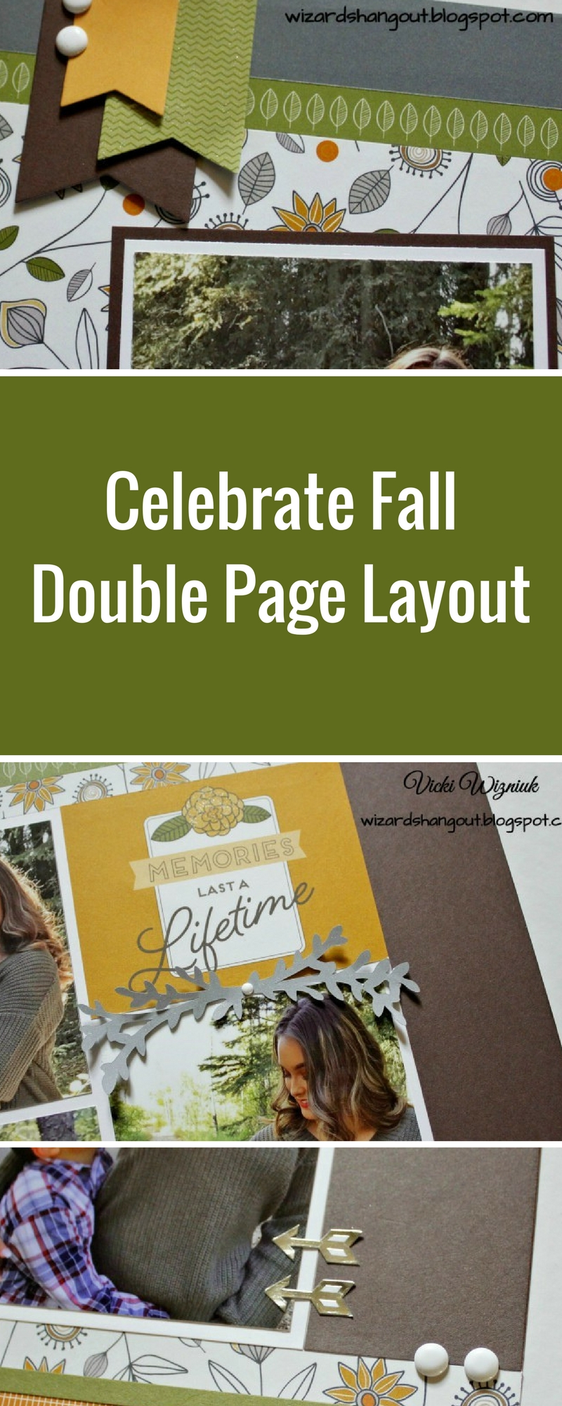 Close To My Heart Double Page Layout designed by Vicki Wizniuk | Creative Scrapbooker Magazine #doublepage #scrapbooking #fall