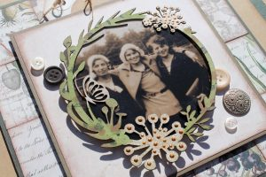 Heritage Scrapbook Layout | Featuring FabScraps Mother Eather Collection | Designed by Tracy McLennon | Creative Scrapbooker Magazine #heritage #fabscraps #scrapbooking