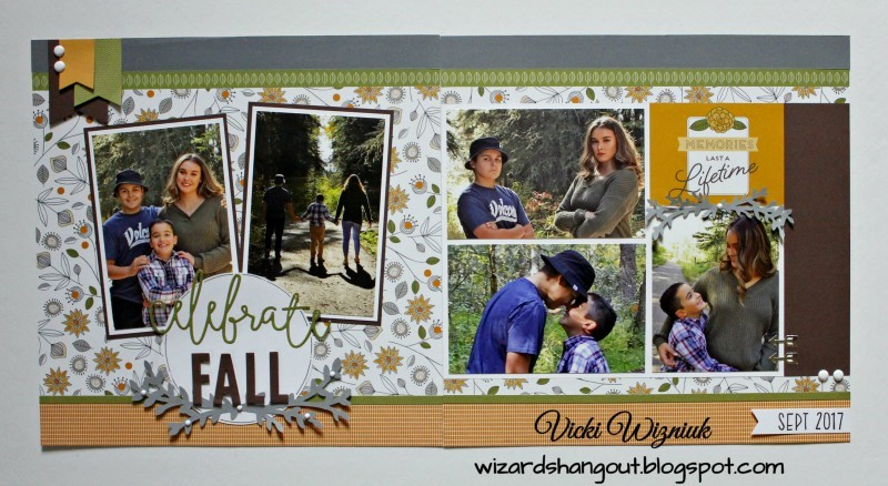 Double Page Scrapbook Layout designed by Vicki Wizniuk featuring Close To My Heart