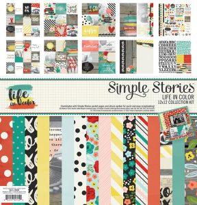 Simple Stories Life in Color Scrapbooking Collection