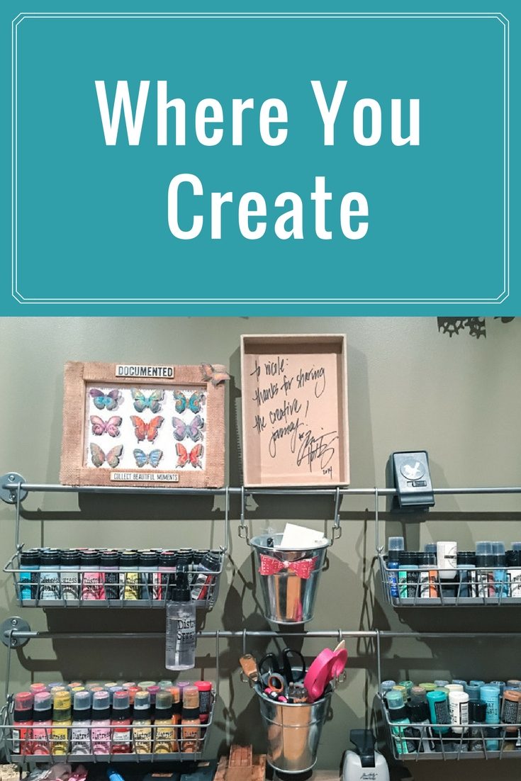 Storage Ideas | Where You Create | Featuring Nicole Wright | Creative Scrapbooker Magazine  #storage #craft #rooms