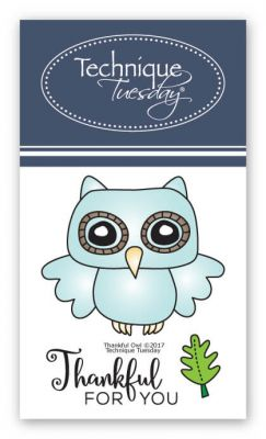 Thankful Owl Stamp Set Designed by Technqiue Tuesday