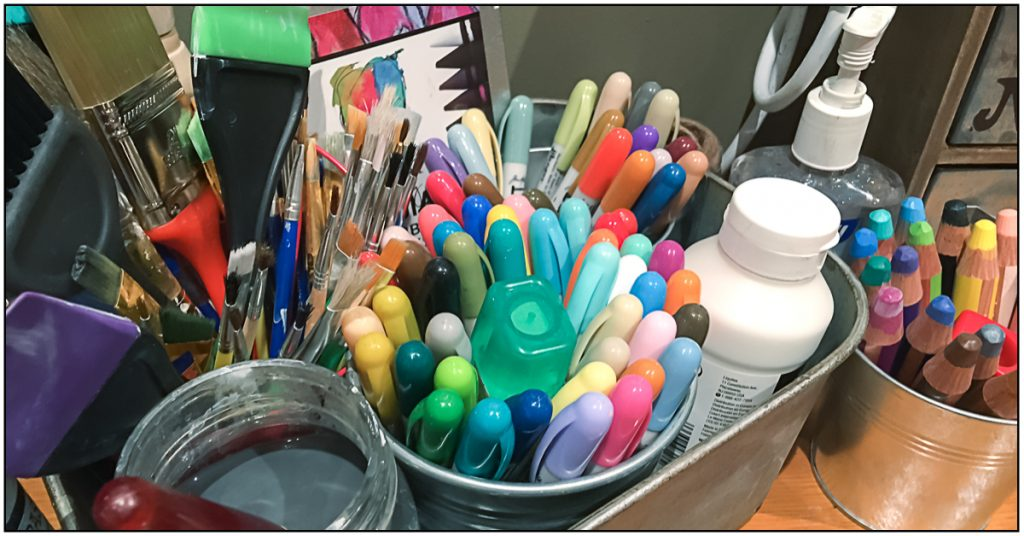 Where You Create / organizing ideas for your creative supplies / Nicole Wright's craft room
