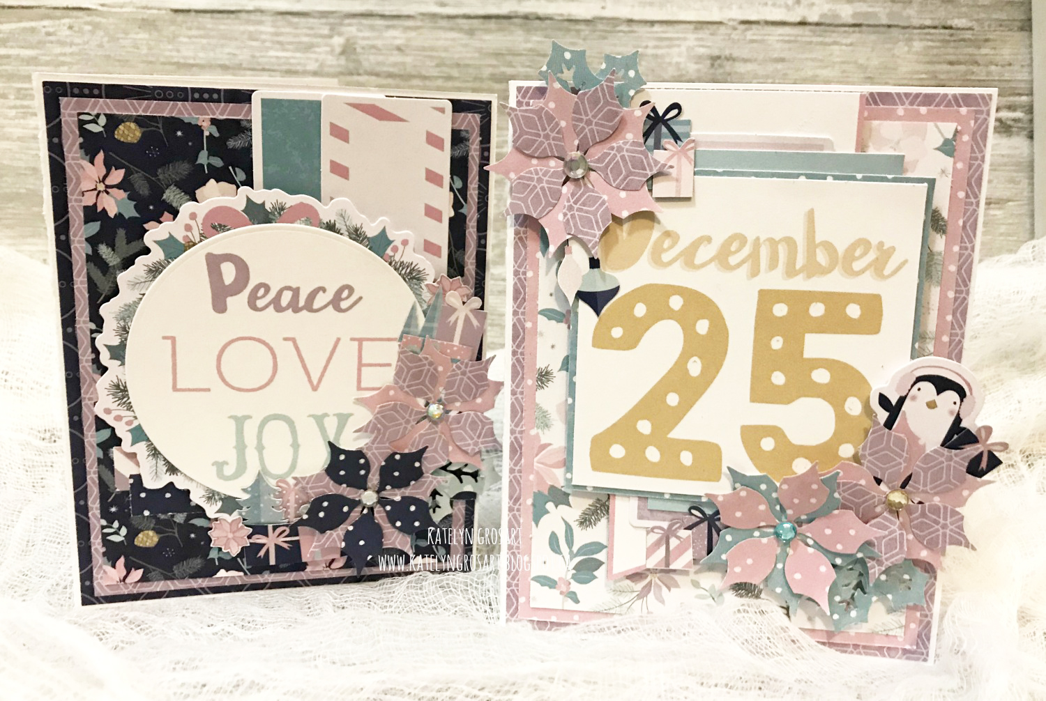 Christmas Card Featuring Creative Memories Sugarplum Collection | Designed by Katelyn Grosart | Creative Scrapbooker Magazine  #scrapbooking #cardmaking #christmas