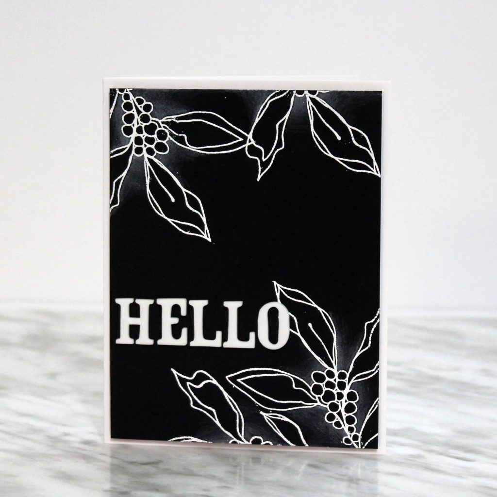 Coloring on black cardstock   Featuring Chameleon Coloring Pencils   Designed by Tracy McLennon   Creative Scrapbooker Magazine  #cardmaking #coloring #Stamping