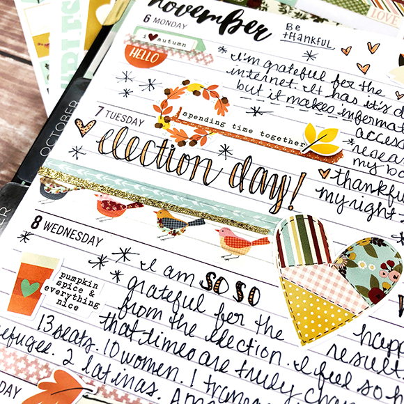 Creative Planners Designed by Leah O'Neil Featuring Simple Stories Vintage Blessings Collection | Creative Scrapbooker Magazine #planners #scrapbooking #simplestories