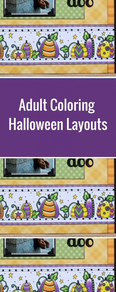 Halloween Layout | Featuring Chameleon Color Tone Pens | Designed by Tracy Mclennon | Adult Coloring | Creative Scrapbooker Magazine  #halloween #adult #coloring #scrapbooking