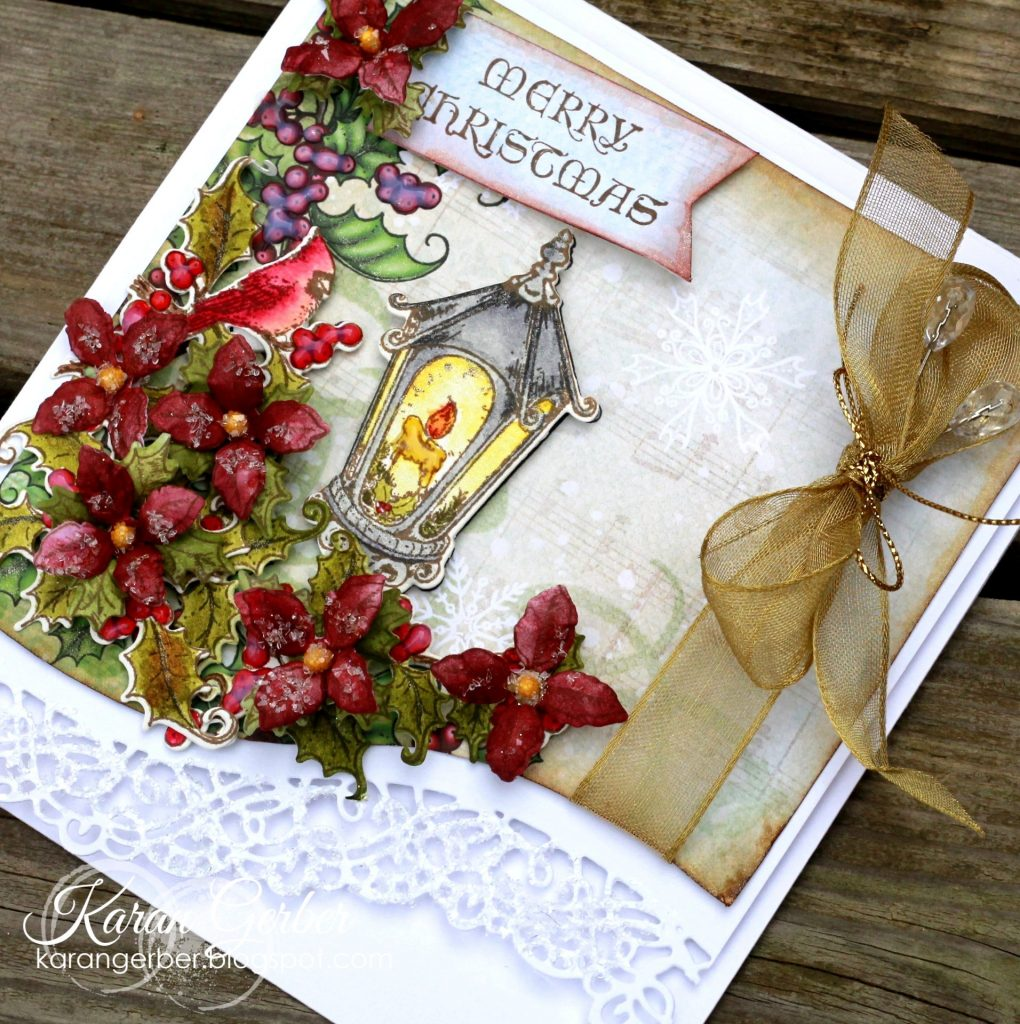 Christmas Cards Designed by Karan Gerber Featuring Heartfelt Creations | Creative Scrapbooker Magazine #christmas #cards #cardmaking