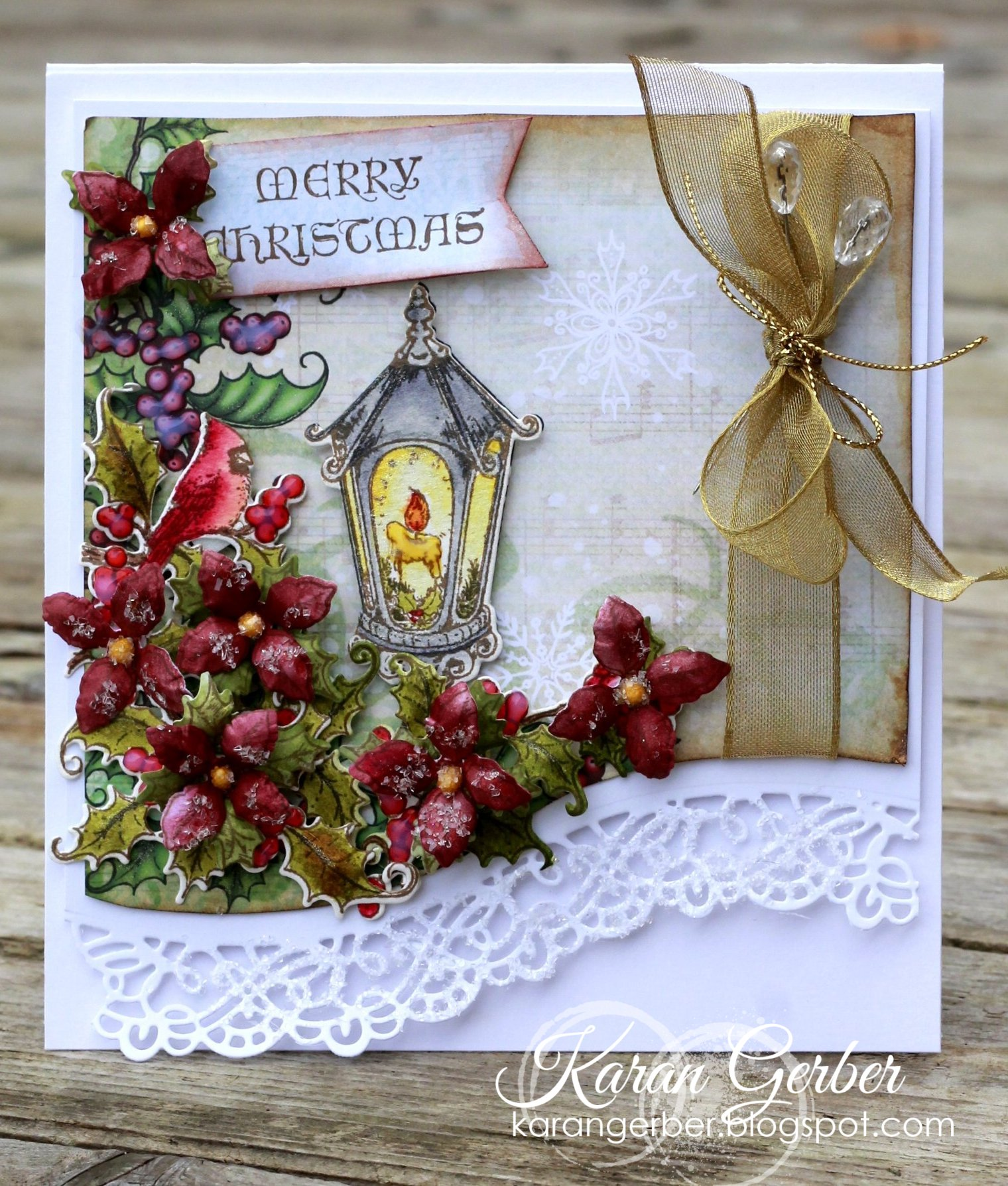 Christmas Card Designed by Karan Gerber Featuring Heartfelt Creations | Creative Scrapbooker Magazine #christmas #cards #cardmaking