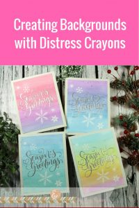 Christmas Cards Featuring Ranger Distress Crayons | Creative Scrapbooker Magazine  #christmas #cards